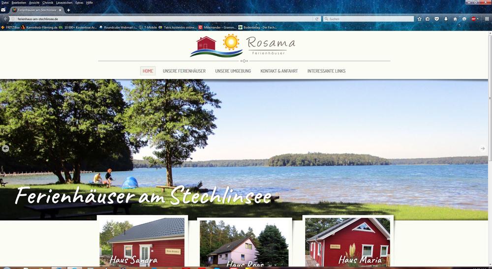 Rosama - Ferienhäuser am Stechlinsee